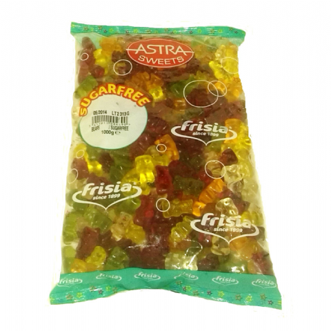 Gummy Teddy Bears - Sugar Free Jellies Gums Sweets Bulk Buy Bag 1kg